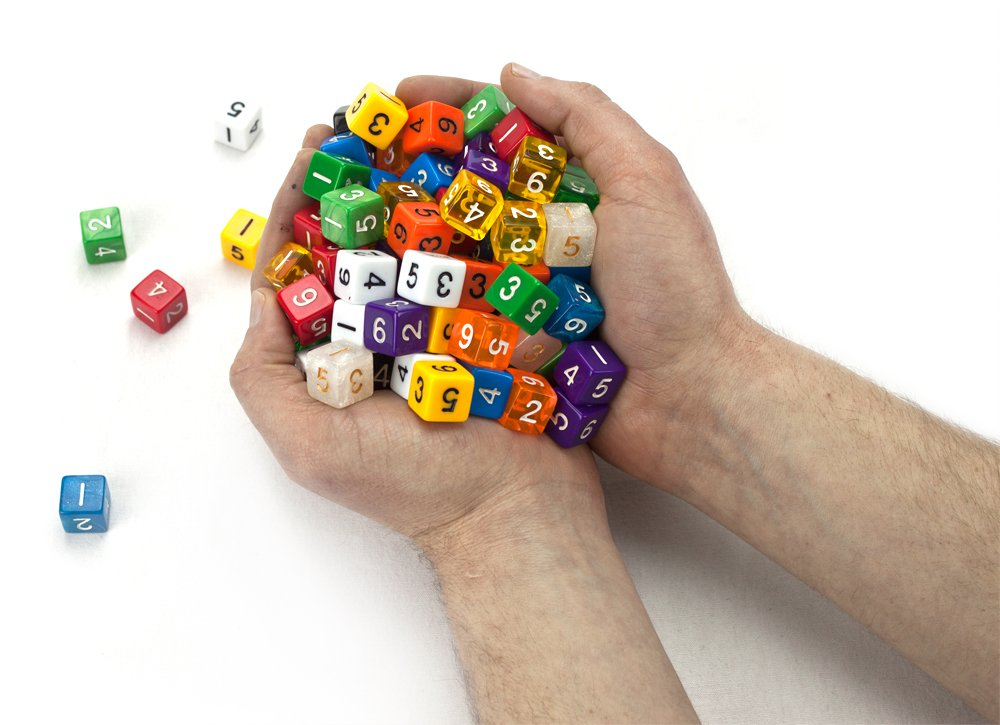 100+ Pack of Random D6 Polyhedral Dice in Multiple Colors By Wiz Dice by Wiz Dice (Image #2)