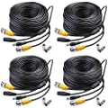 Masione 4 Pack Security Camera Video Power CCTV Cable