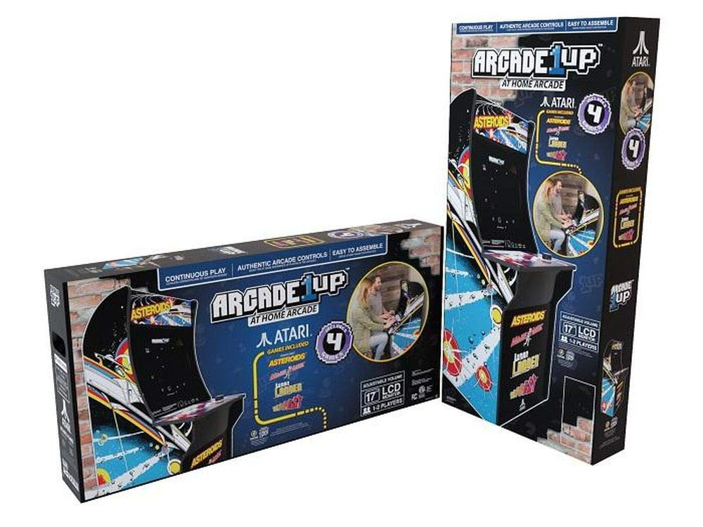 Arcade 1Up – Asteroids Deluxe Classic Arcade Game Cabinet for Kids and Adults – 3/4 Scale – Coinless Operation – 4 Games in 1 (Asteroids, Major Havoc, Lunar Lander and Tempest) by Arcade 1 Up (Image #5)