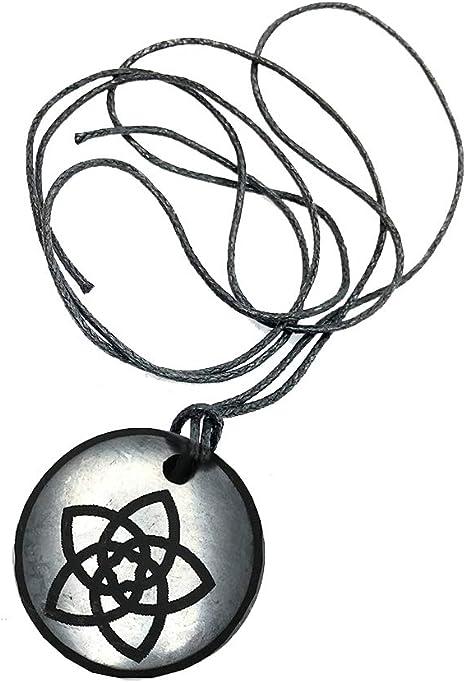 Shungite Colgante Infinity Collar, piedra auténtica de Rusia, Shungite Jewelry, protección EMF: Amazon.es: Salud y cuidado personal