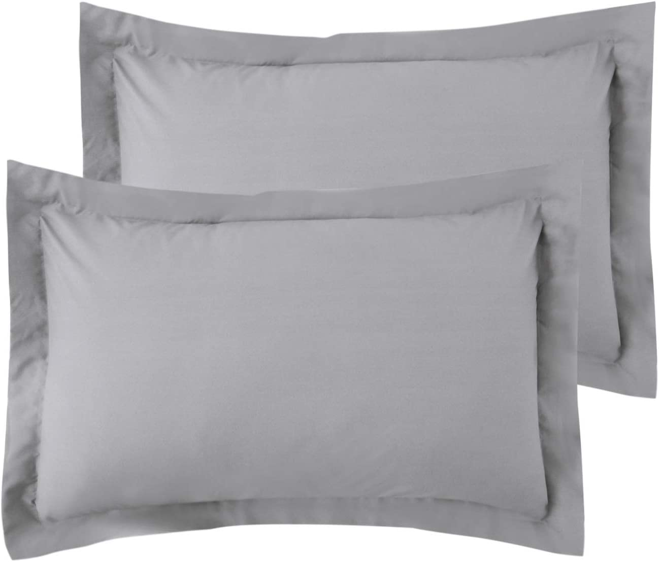 Bedsure King Pillow Shams Set of 2, Brushed Microfiber Light Grey Bed Pillow Shams for Queen Bed, Super Soft and Cozy 20x36 Inch Shams Envelope Closure