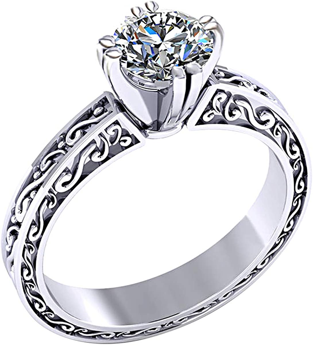 Vintage Art Deco Engagement Ring 14k White Gold 2.26 Carat White Round Diamond