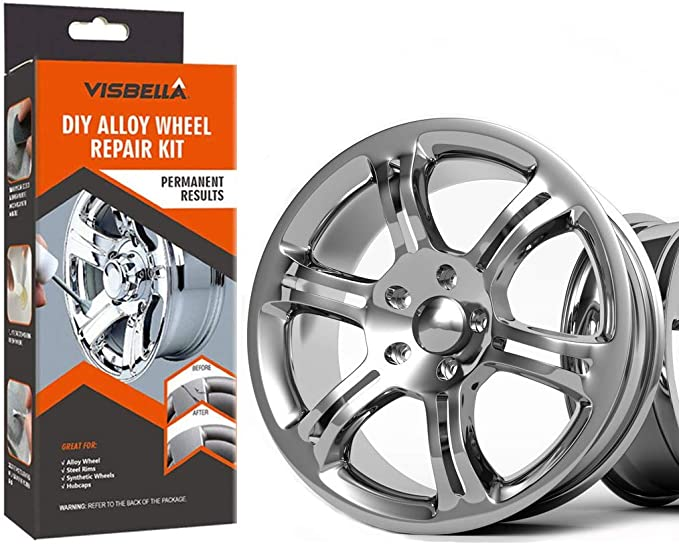 Amazon Com Visbella Diy Alloy Wheel Repair Adhesive Kit Rim Surface Damage Car Auto Rim Dent Scratch Care Paper Packaging Hub 227 Automotive