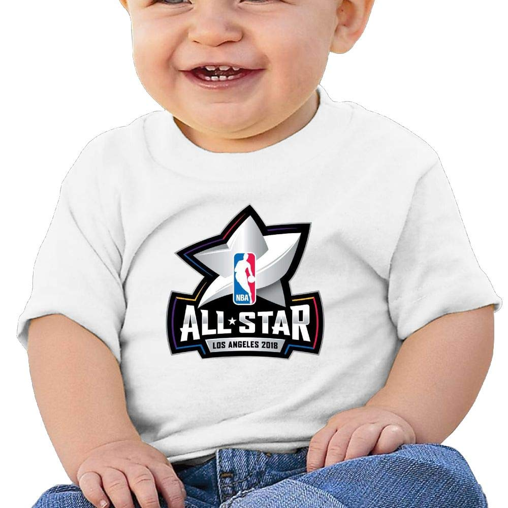 AiguanNBA All-Star Toddler//Infant Short Sleeve Cotton T Shirts White