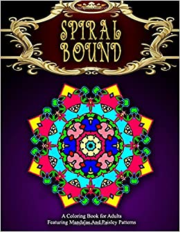 Spiral bound mandala coloring book vol 1 Coloring books for adults spiral bound