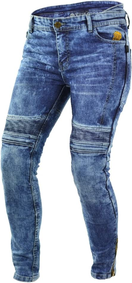 Trilobite Micas Urban Motorcycle Ladies Jeans in Modern Slim Fit New Size 30 Blue Washed