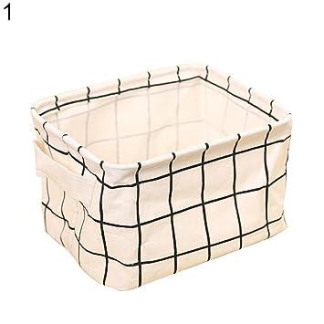 Geshiglobal Home-Ablagen Muster mit Tuch, mit Korb 1#: Amazon.de ...