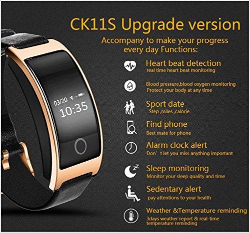 Amazon com: CK11S Smart Band Blood Pressure Heart Rate