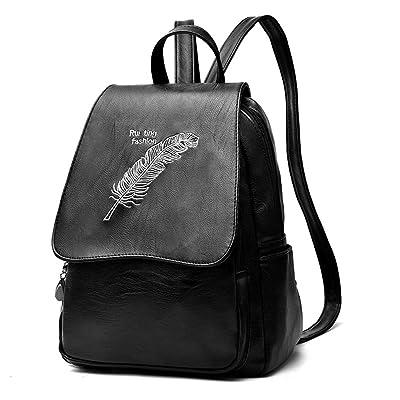 hot sale Women Casual Leather Backpack Pattern Embroidery Designer Purse Satchel For Ladies Shoulder Bag Solid School Bag For Girls Dayback