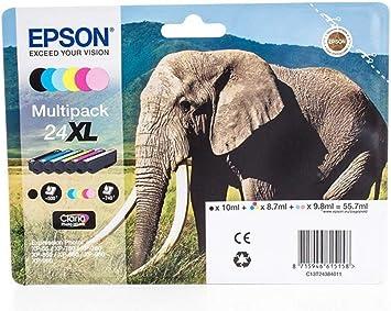 Epson Original Epson Expression Photo Xp 760 24xl C 13 T 24384010 Tintenpatrone Multipack Schwarz Cyan Magenta Gelb Foto Cyan Foto Magenta 740 Seiten Bürobedarf Schreibwaren
