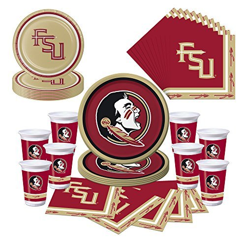 Florida State Seminoles Party Pack - Plates, Cups, Napkins - Serves 8 -