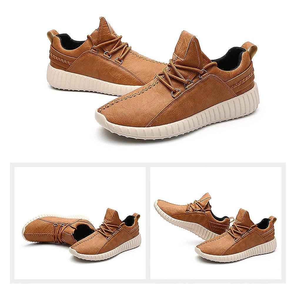 Sneakers da Ginnastica Sportive Scarpe da Passeggio Jogging Vegane Calzature da Allenamento Uomo Lace up Nero Marrone Grigio 38-43