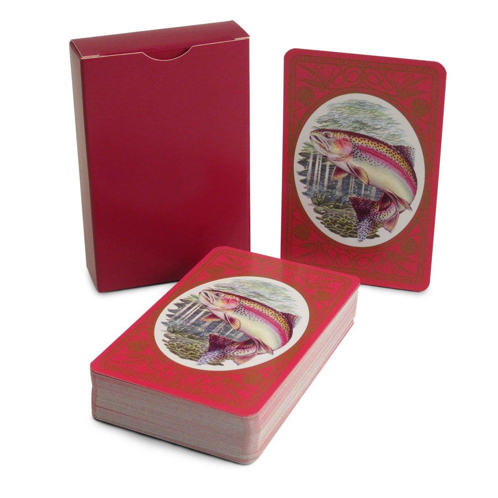 Baraja de cartas, diseño de trucha arco iris: Amazon.es ...