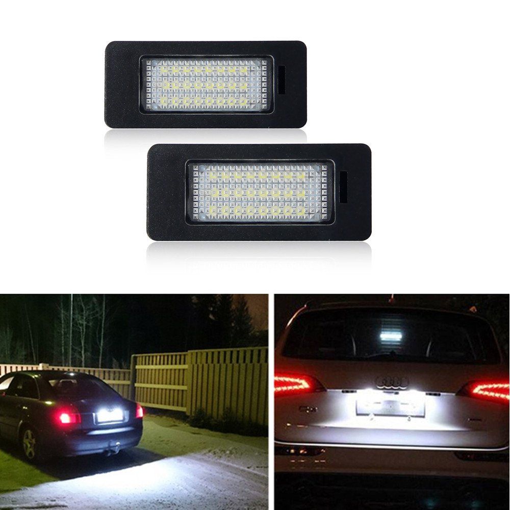 Win Power Error Free 18 SMD LED Number Licence Plate Light Assembly Cool White Lamps Bulb 6000K for W203 5D, W211, W219, R171, 2 Pieces Winpower