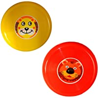 CocoRio Plastic Hi Fly Flying Disc Frisbees Combo Set for Kids, Adults and Dogs (Random Colours) - Pack of 2