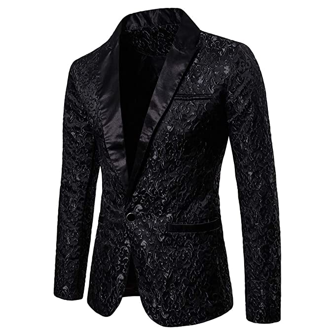 Pingtr MensTailored Fit Vintage Suit Mens Tweed Blazer Jacket RetroTailored Fit Smart Suit Formal Dinner Coat Slim Fit Suit Jackets