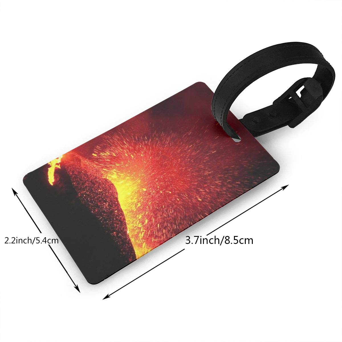 2 Pack Luggage Tags Volcano Erupting Cruise Luggage Tag For Travel Tags Accessories
