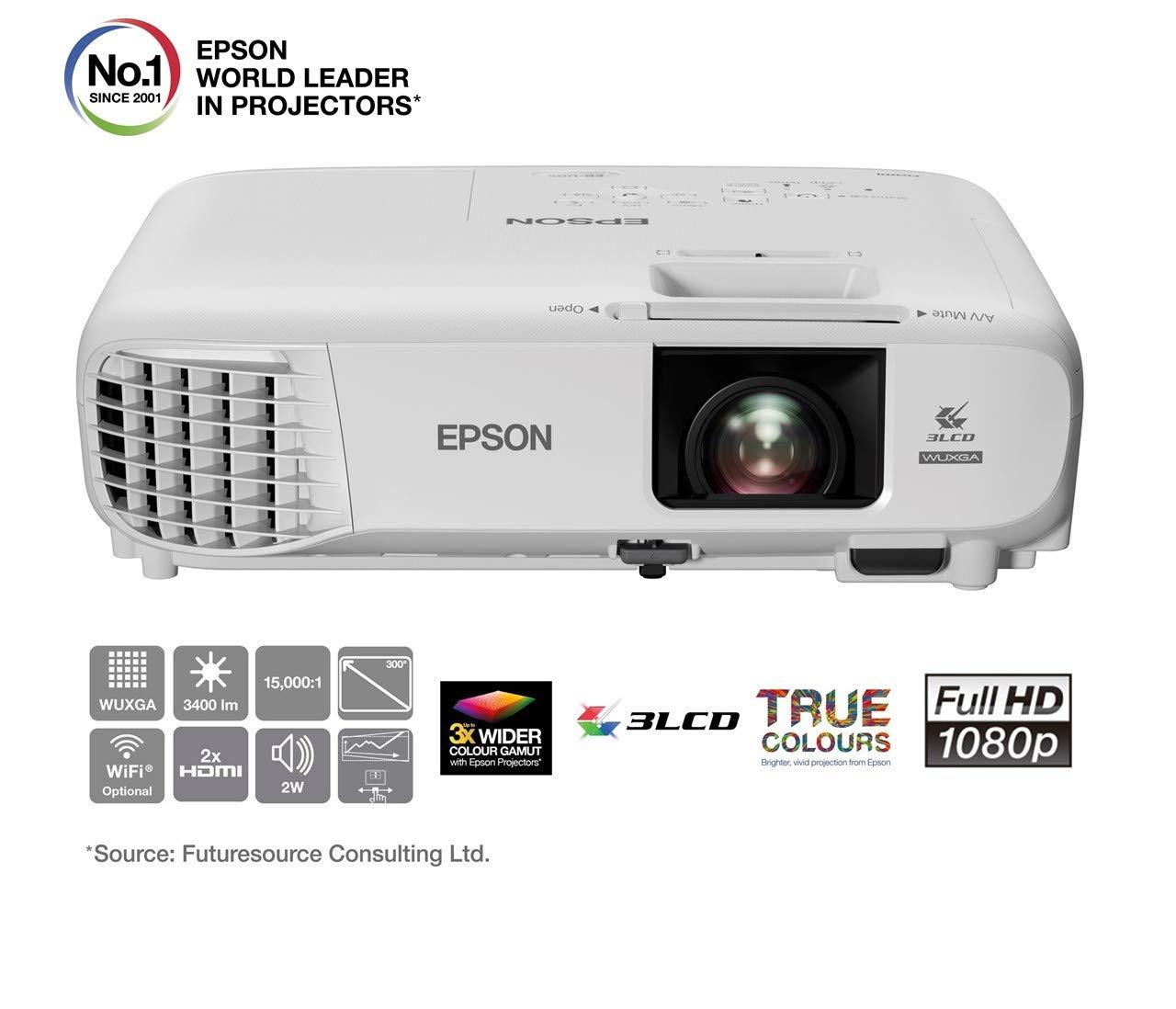 Epson EB-U05 | Proyector Full HD 1080p | 3400 lúmenes | Contraste ...