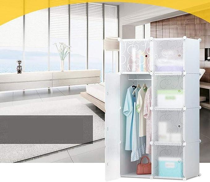GKKXUE Armario portátil para Colgar la Ropa, armarios Combinados, gabinete Modular para (Color : Blanco, Tamaño : 10A/Cubes): Amazon.es: Hogar