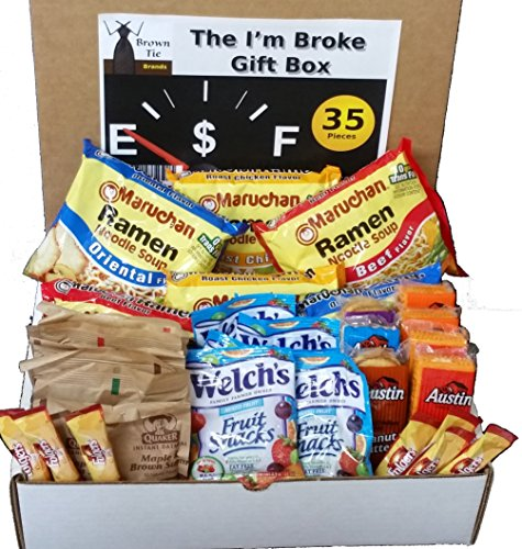 The I'm Broke -College, Student, Military, Office or Gag Gift Box (35 Count)