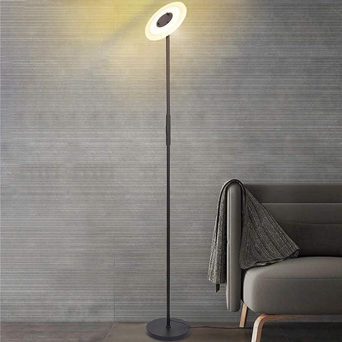 Lumi/ère basse consommation Blanc Mat/ériau WPC Fonction mise /à niveau Temp/érature de couleur r/églable ELINKUME Lampadaire LED /à intensit/é variable Lampe de salon T/él/écommande