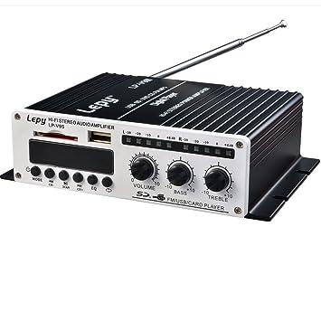 Eaglerich caliente mini coche 12V MP3 de alta fidelidad amplificador audio estéreo de auto casero Moto