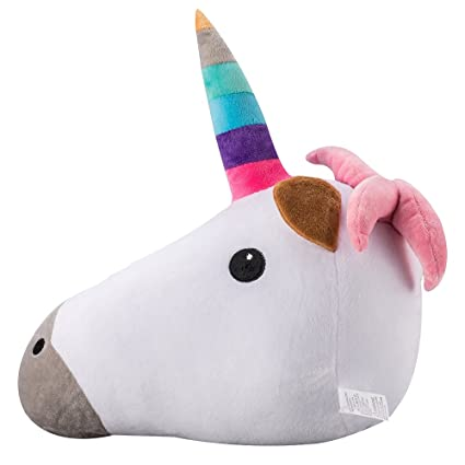 Unicornio Emoji Soft Stuffed Plush Cushion Pillow - 35x33x15cm Grande Suave Emoticono Cojín Almohada de Peluche