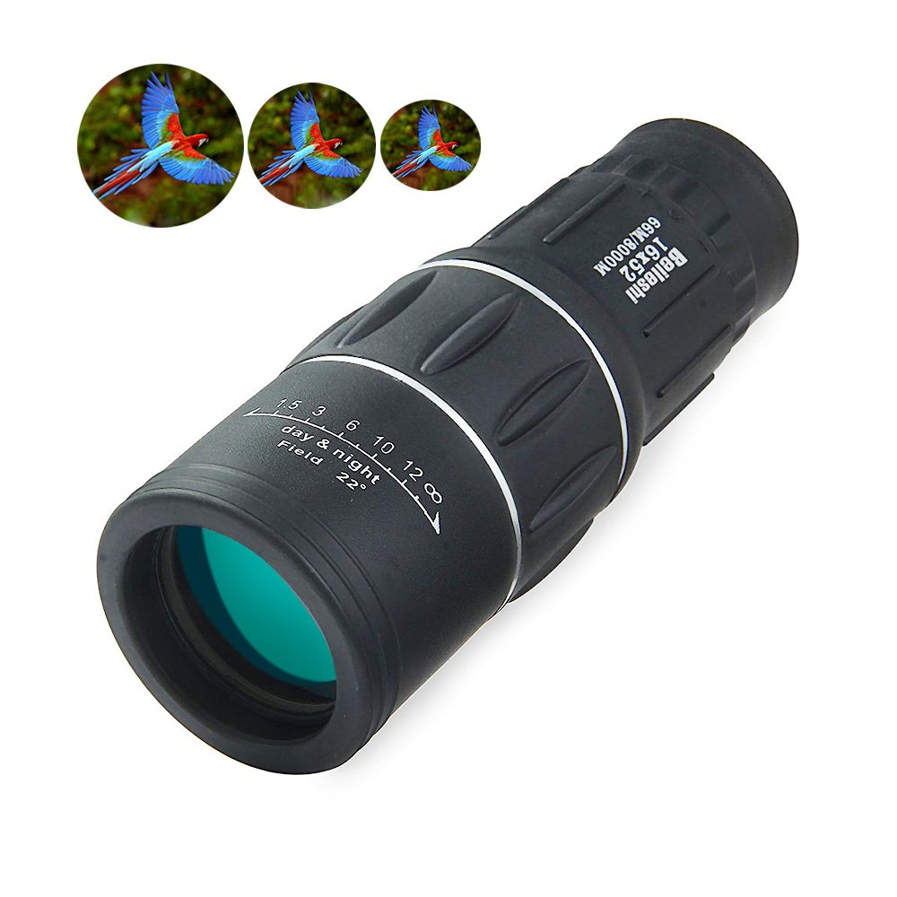 OutLife 16 x 52 Dual Focus Monocular Telescope/HD 16X Monocular Scope/High Power Vortex  Monocular for Bird Watching, Hunting, Camping, Travelling, Wildlife Viewing, Sporting Events