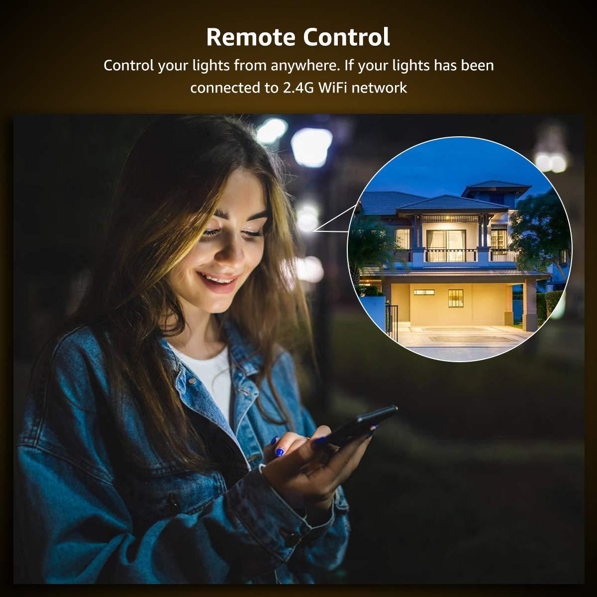 LE LampUX Ampoule Connectée Wifi E27, Blanc Chaud 2700K, 850lm, 9W, Equivalent a 60W, Dimmable, Compatible avec Alexa et Google Home, Pas Hub Requis, Lot de 2