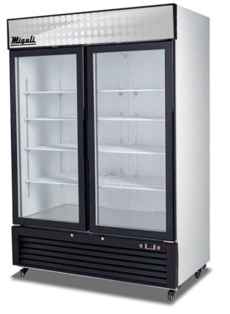 Migali C-49FM - Congelador de puerta de cristal (49 pies cúbicos ...