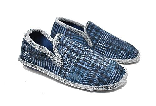Zapatillas de casa para Hombre con pisada Flex - Azul Marino - Biorelax 1401: Amazon.es: Zapatos y complementos