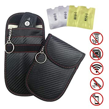 2 x Car Key Signal Blocker Case Keyless Protector Blocking Pouch Sleeve Bag