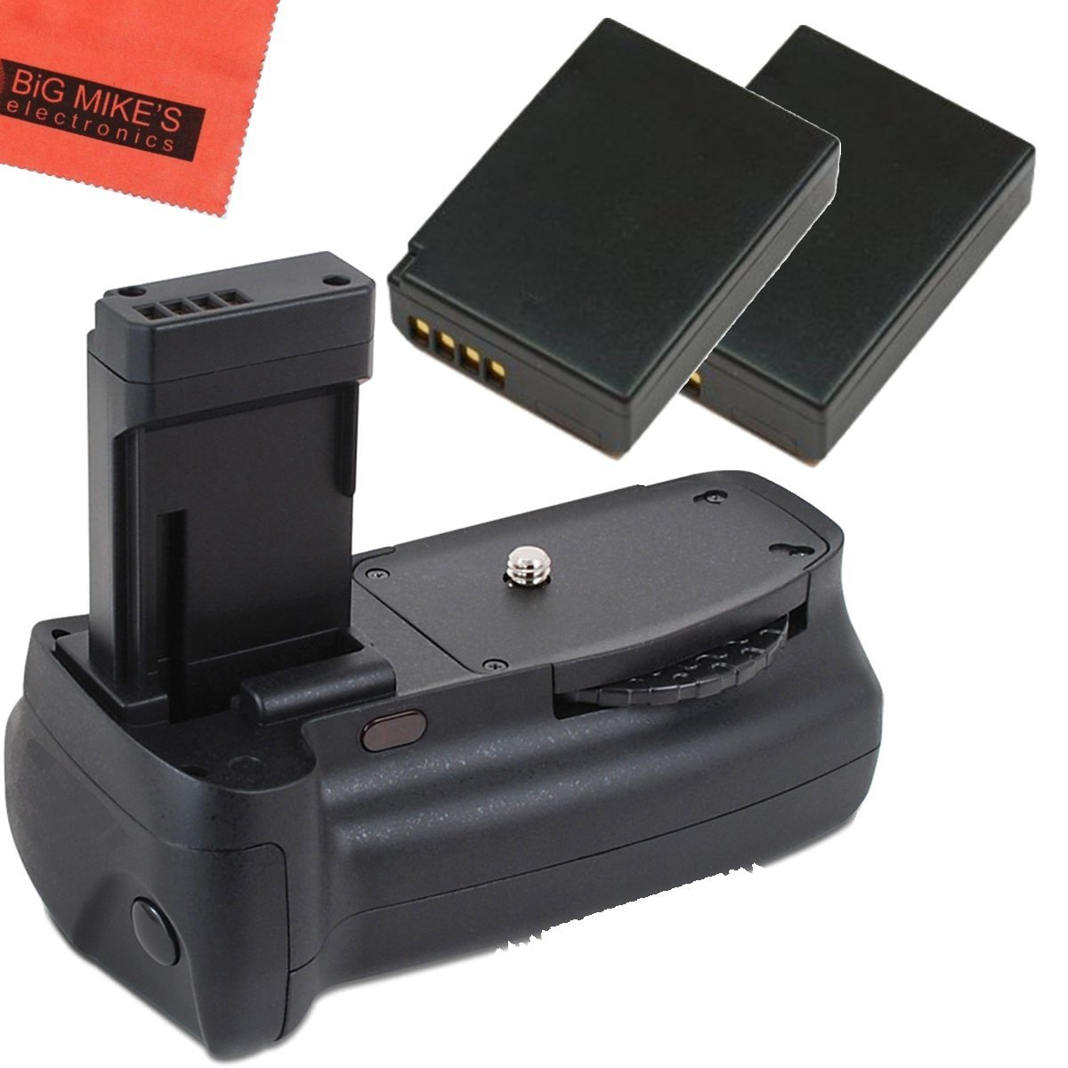 Battery Grip Kit for Canon EOS Rebel T3, T5, T6, Kiss X50, Kiss X70, EOS  1100D, EOS 1200D, EOS 1300D Digital SLR Camera Includes Qty 2 Replacement