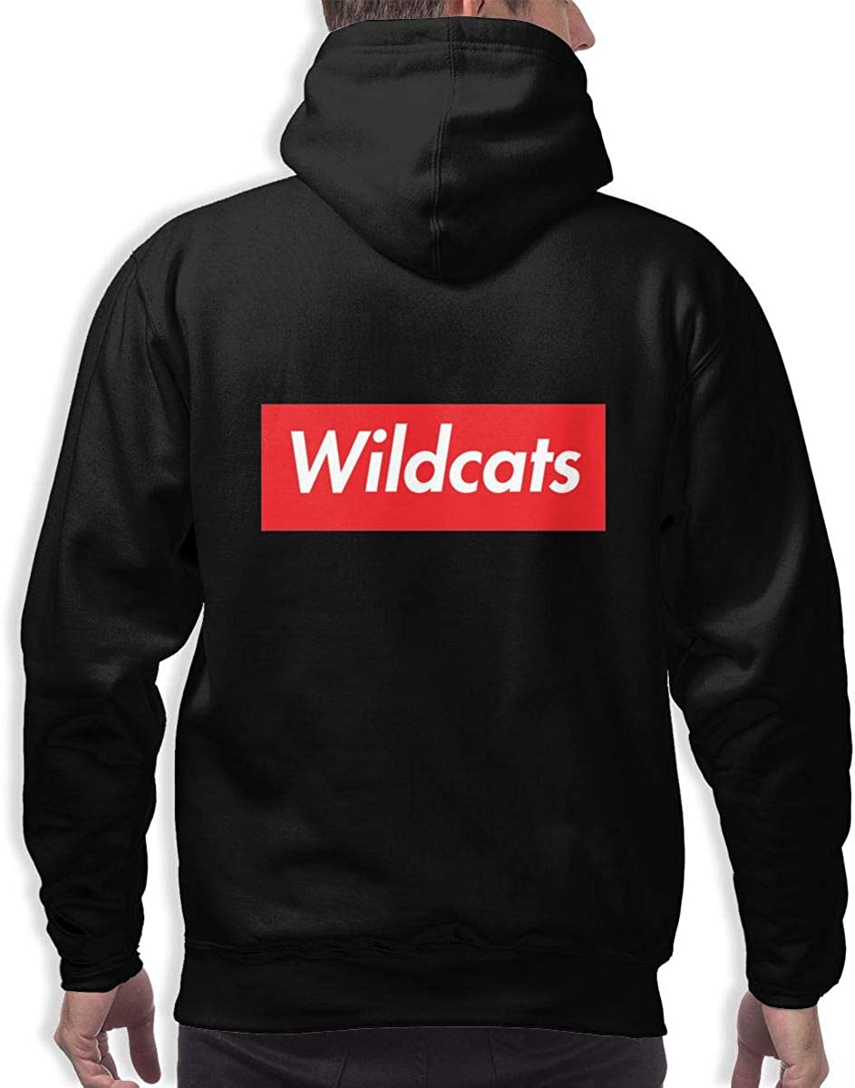 Supreme Wildcats Mens Hooded Pocket Sweater Long Sleeve Classic