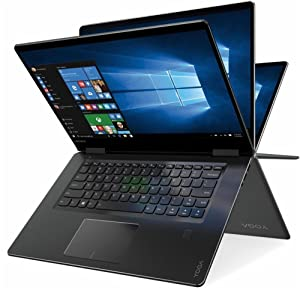"2018 Lenovo Newest Yoga 710 2-in-1 15.6"" FHD Touchscreen Flagship Laptop, Intel Core i5-7200U, 16GB RAM, 256GB SSD, Aluminum Chassis, Fingerprint Reader, HDMI, Stereo Speakers, Windows 10 Home"