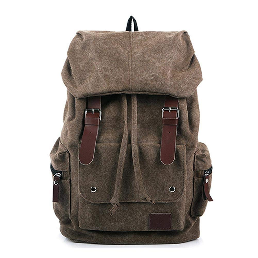 Alian Vintage Canvas Backpack, Thickened Washable Men's Bag Capacity Backpack for Travel Laptop School Military