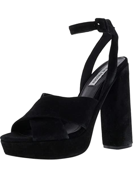 4cea4ad98f574 Amazon.com | Steve Madden Womens Jodi Leather Open Toe Special Occasion  Ankle Strap Sandals | Sandals