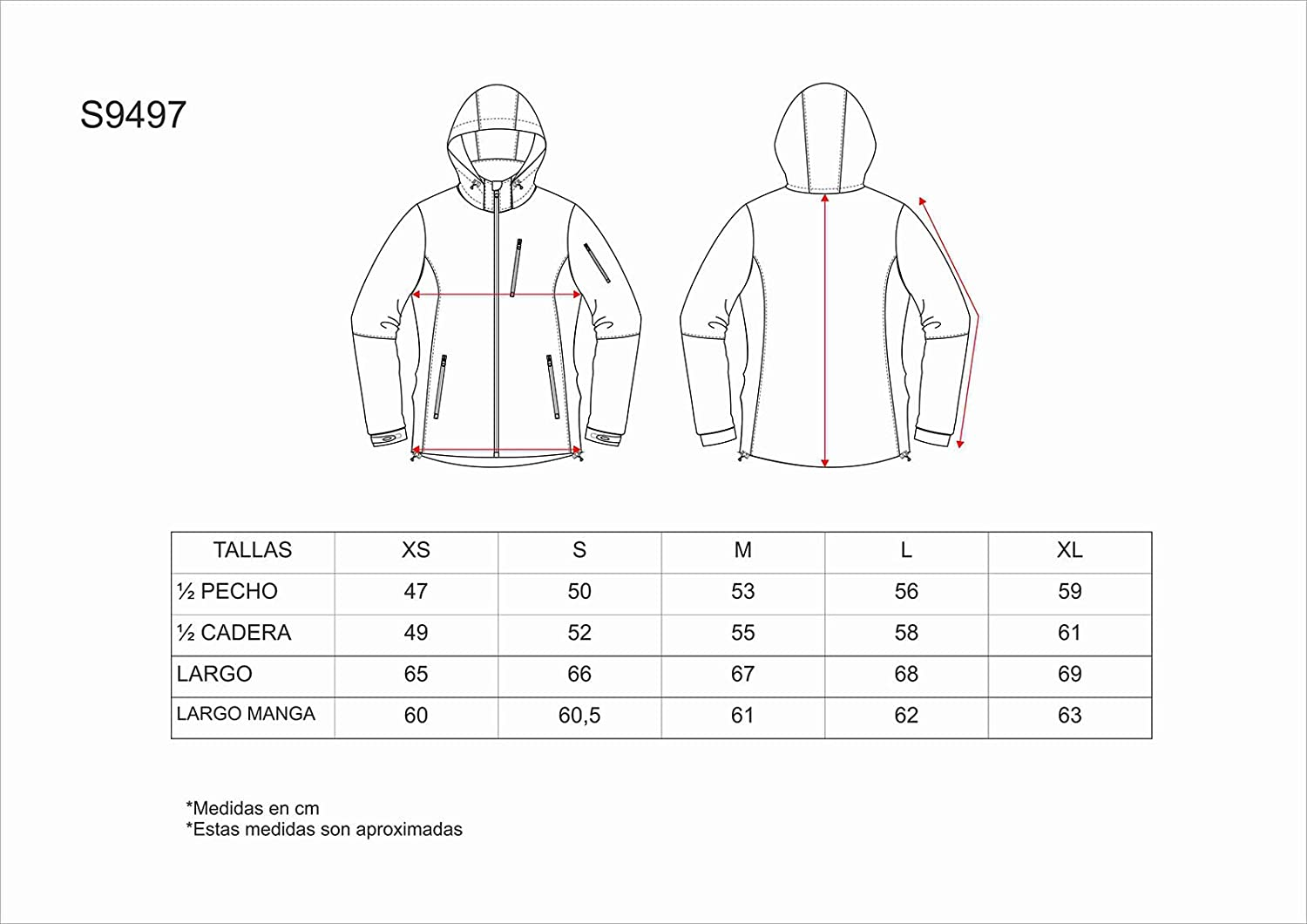 WORKTEAM - CHAQUETA WORKSHELL S9497 (T-M, TURQUESA): Amazon ...