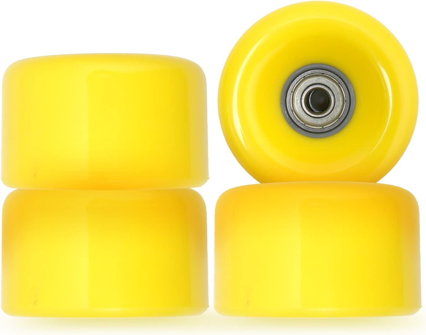70mm Longboard Skateboard Wheels Set of 4 inc ABEC5 Bearings /& Spacers 78A