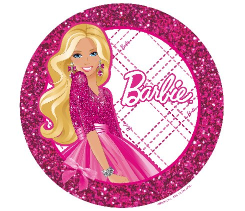 Barbie Doll Edible Cupcake Toppers Decoration