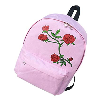 9ac1fb8840 Colorful Floral Printed School Backpack For Girls Canvas Design Women  Backpack Casual Female Travel Rucksack Women
