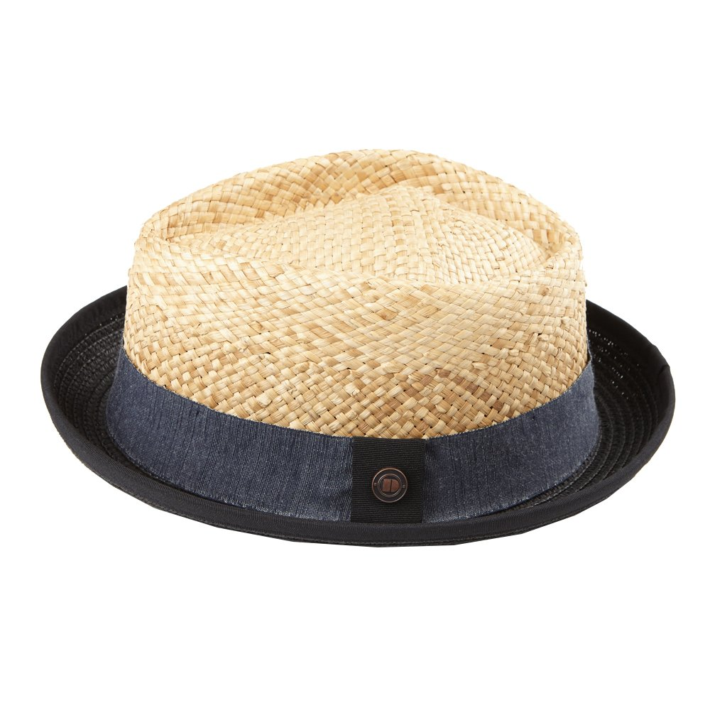 5f55e707890a39 Dasmarca Mens Straw Retro Porkpie Summer Hat at Amazon Men's Clothing store: