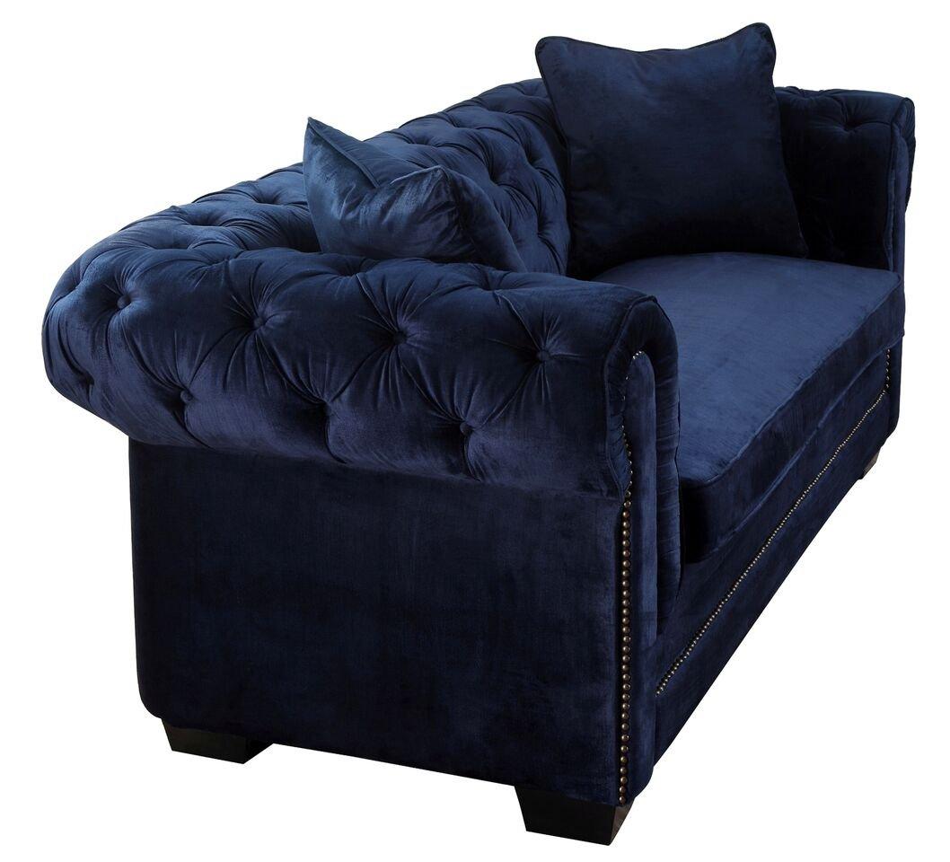 Navy blue velvet chair - Navy Blue Velvet Chair 35