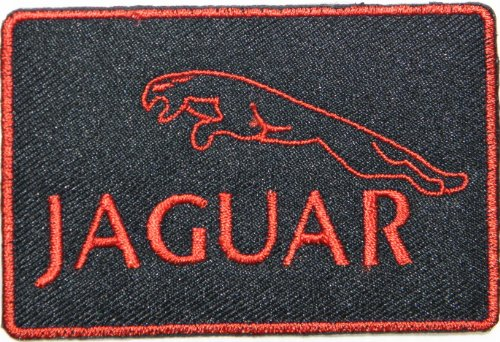 JAGUAR Logo Sign Car Racing Patch Sew Iron on Applique Embroidered T shirt Jacket Costume Gift BY SURAPAN