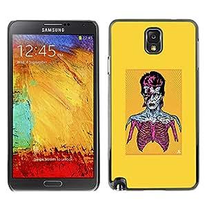 Caucho caso de Shell duro de la cubierta de accesorios de protección BY RAYDREAMMM - Samsung Note 3 N9000 - Zombie Bowie