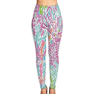 79f6f7247f6ed Lilly Pulitzer Printed High Waist Yoga Capris Pants Full-Length Yoga  Workout Leggings Pants for