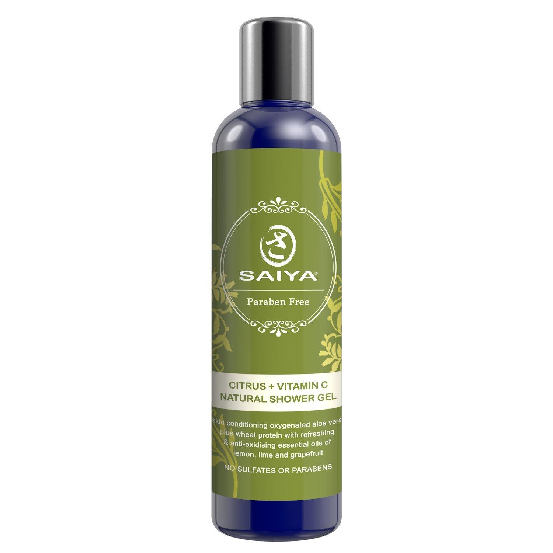 Saiya minerales cítricos vitamina C Natural Body Wash - Uplifting & Gel de ducha energizante con lima, limón y pomelo, VIVOS y rejuvenecer Spa baño ...