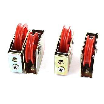 36mmx8mm 73 Tipo Individual Red de rodillos para puerta ventana Polea ruedas 4 PC