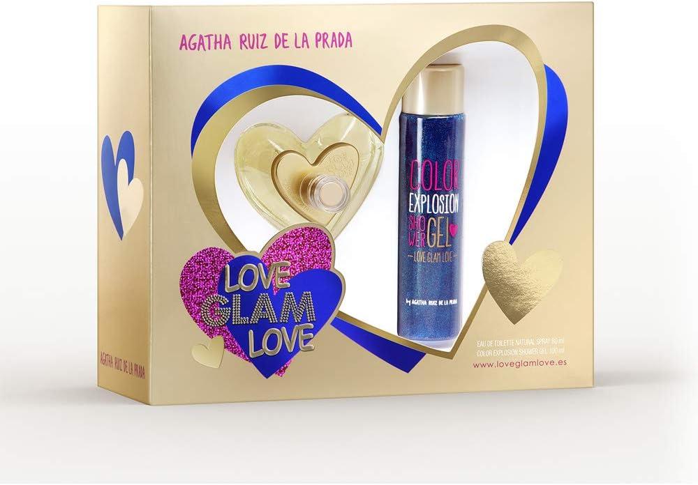 banner Kit feminino Love Glam Love Agatha Ruiz de La Prada EDT 80 ml + Shower Gel 100 ml