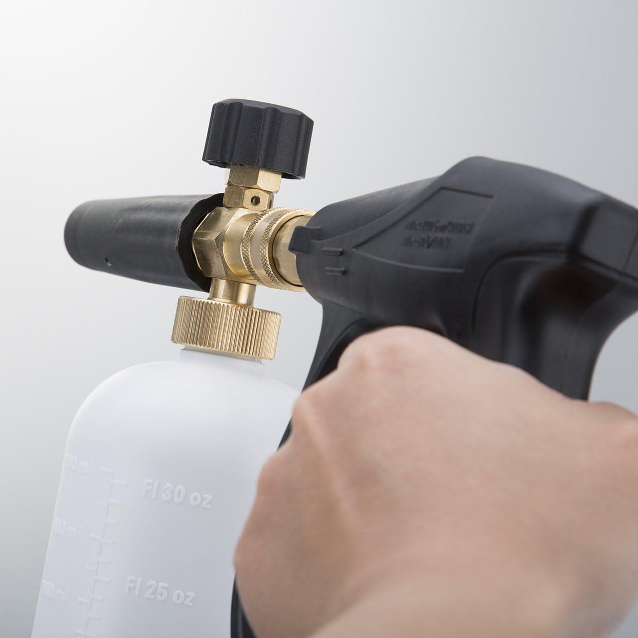 DEDC Car Foam Wash Gun,Car Wash Soap Kit Sprayer 1000-3000PSI High Pressure Washer with 1L Snow Foam Bottle